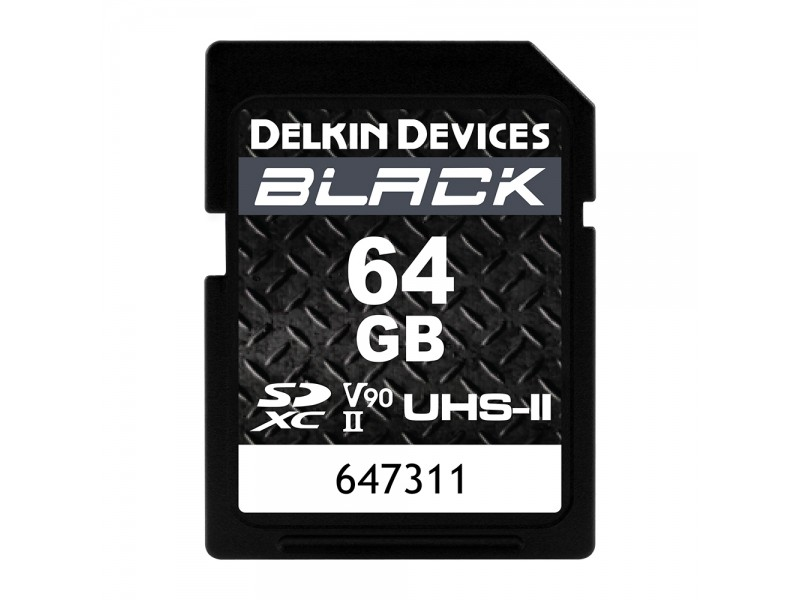 Delkin SD Black Rugged UHS-II V90 64gb